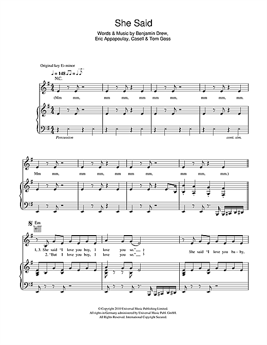 Plan B She Said Sheet Music Notes Chords Printable R B Piano