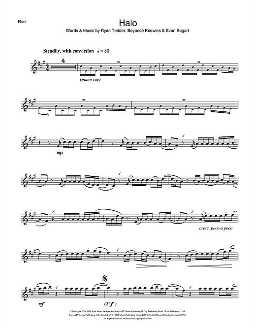 Beyonc Halo Sheet Music Notes Chords Printable R B Flute