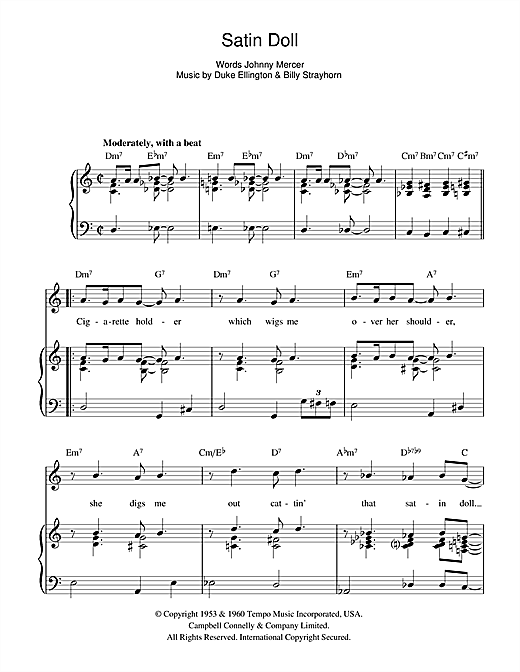 Nina Simone Satin Doll Sheet Music Notes Chords Printable Jazz