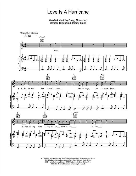 Boyzone Love Is A Hurricane Sheet Music Notes Chords Printable
