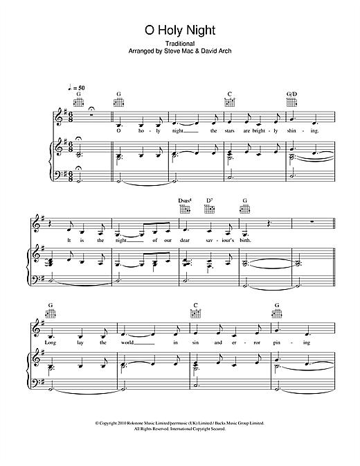 Susan Boyle O Holy Night Sheet Music Notes Chords Printable Pop