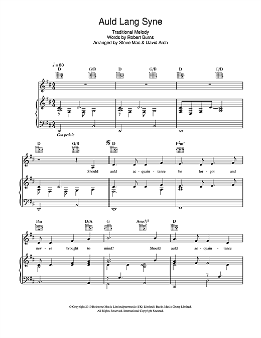 picture relating to Auld Lang Syne Lyrics Printable known as Susan Boyle Auld Lang Syne Sheet New music Notes, Chords Down load Printable Piano, Vocal Guitar (Immediately-Hand Melody) - SKU: 105284
