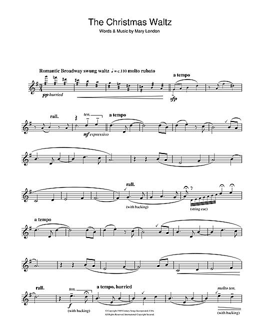 Christmas Waltz Chords.Mary London The Christmas Waltz Sheet Music Notes Chords Download Printable Clarinet Sku 106384