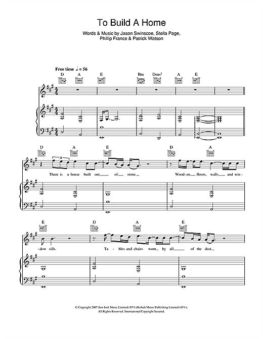 Cinematic Orchestra To Build A Home Sheet Music Notes Chords