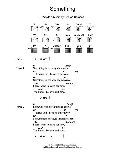 The Beatles Something Sheet Music Notes Chords Printable Pop