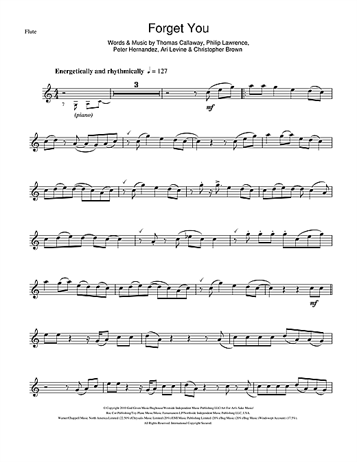 Cee Lo Green Forget You Sheet Music Notes Chords Printable Pop