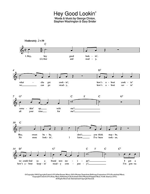 Hank Williams Hey Good Lookin Sheet Music Notes Chords