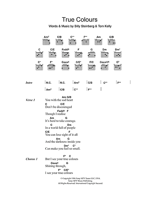 Fingerstyle ukulele lesson #169: true colors (cyndi lauper) youtube.
