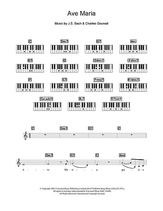 Charles Gounod Ave Maria Sheet Music Notes Chords Printable