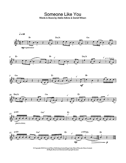 Adele Someone Like You Sheet Music Notes Chords Printable Pop