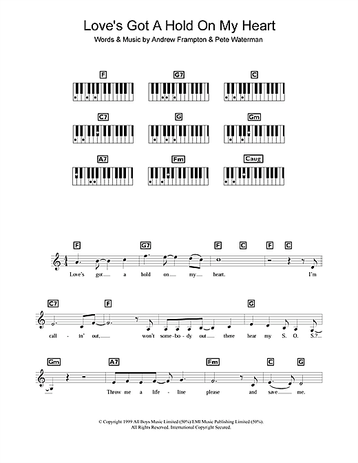 Steps Loves Got A Hold On My Heart Sheet Music Notes Chords