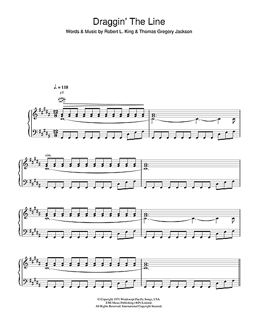 Rem Draggin The Line Sheet Music Notes Chords Printable