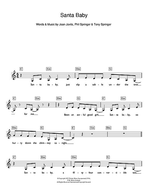 Fantastic Guitar Chords Santa Baby Pattern - Beginner Guitar Piano ...