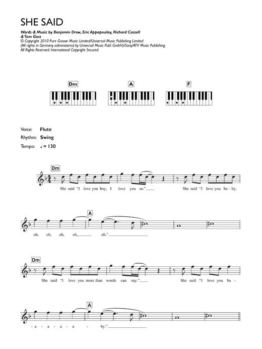 Plan B She Said Sheet Music Notes Chords Printable Soul
