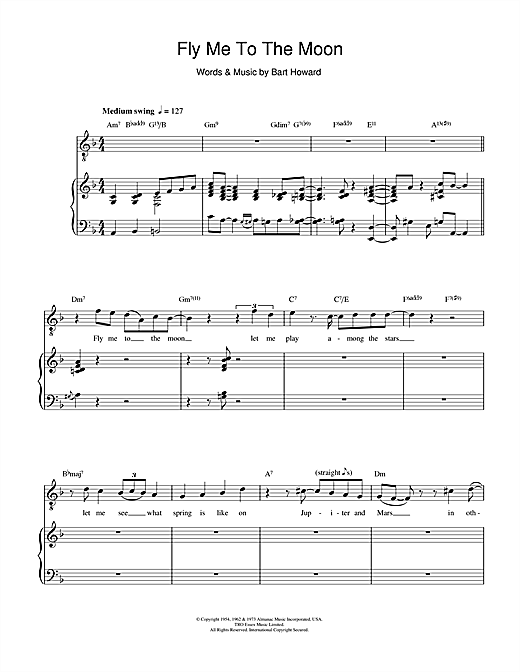 Diana Krall Fly Me To The Moon In Other Words Sheet Music Notes