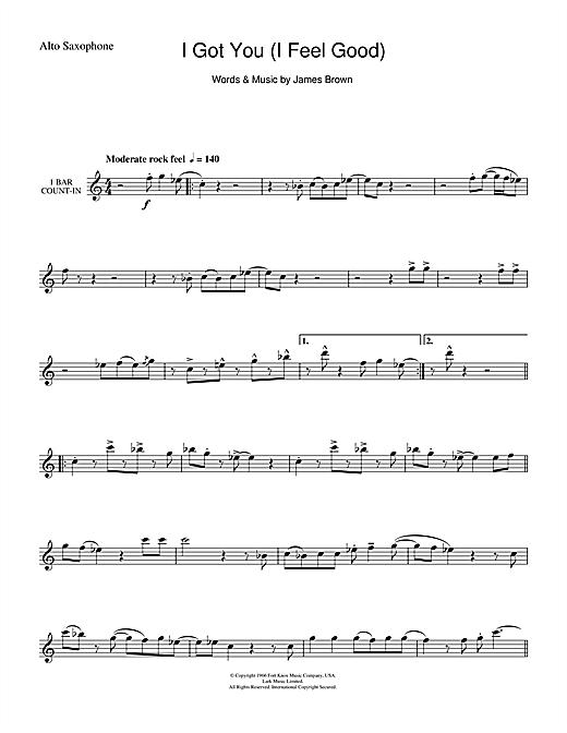 James Brown I Got You I Feel Good Sheet Music Notes Chords