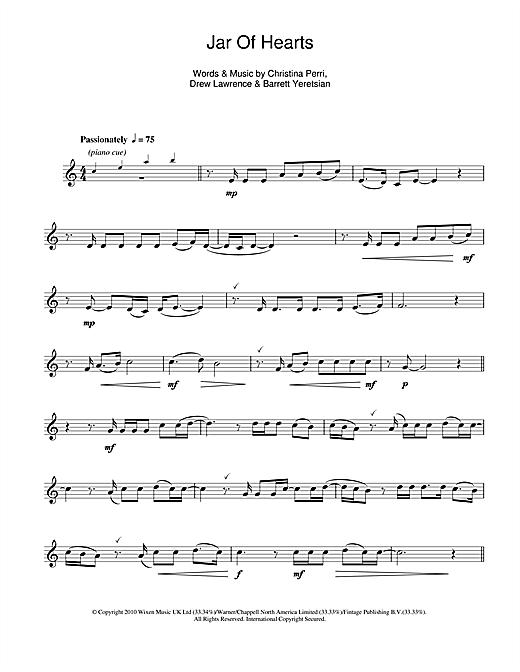 Christina Perri Jar Of Hearts Sheet Music Notes Chords