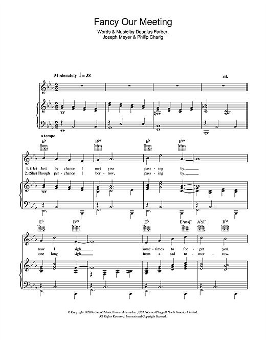 Jack Buchanan Fancy Our Meeting Sheet Music Notes Chords