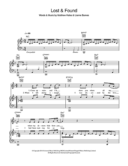 Lianne La Havas Lost Found Sheet Music Notes Chords Printable