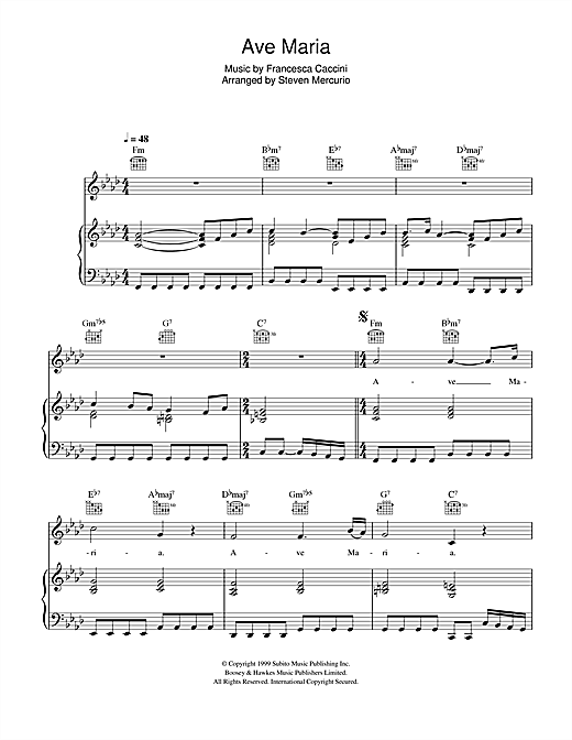 Hayley Westenra Ave Maria Sheet Music Notes Chords Printable
