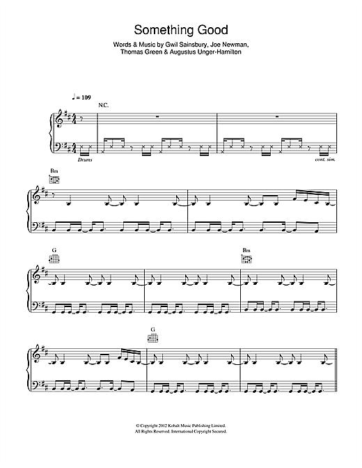 Alt j something good (piano cover) sheet music download free in.