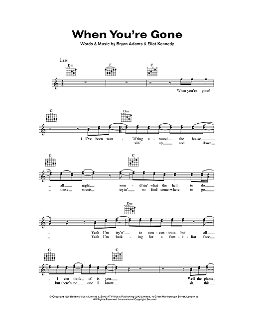 "Rainbow ""since you've been gone"" sheet music notes, chords."