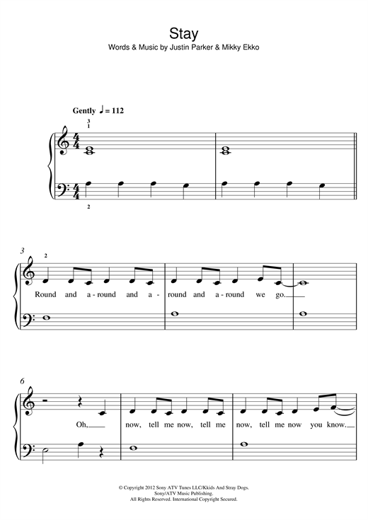 Enchanting Stay Chords Rihanna Piano Picture Collection - Beginner ...