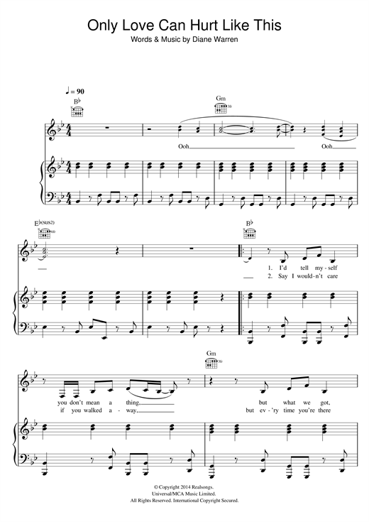 Paloma Faith Only Love Can Hurt Like This Sheet Music Notes