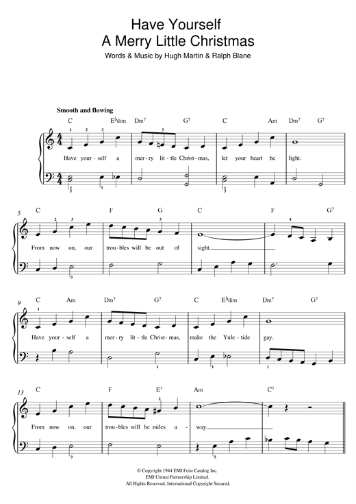sheet music piano notes chords guitar tabs score transpose transcribe - Have Yourself A Merry Little Christmas Tab