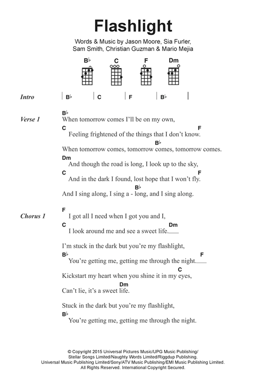 Jessie J Flashlight Sheet Music Notes Chords Printable Pop
