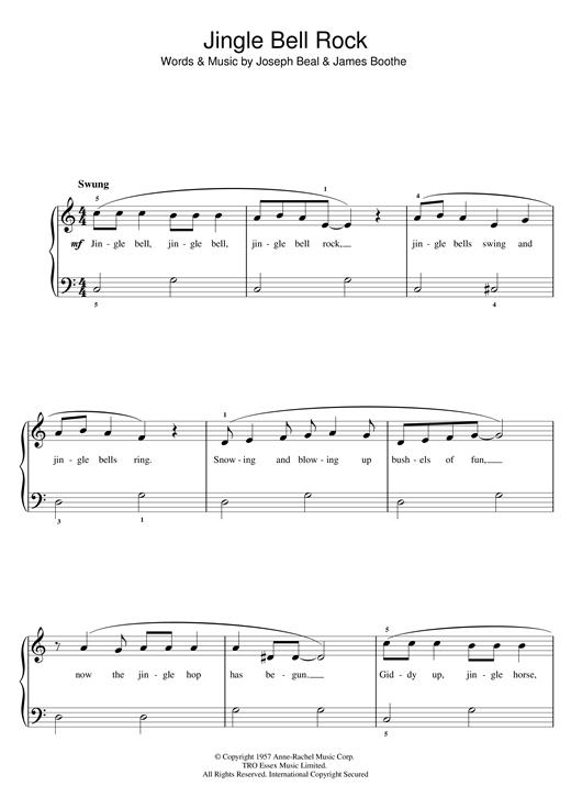 Chubby Checker Jingle Bell Rock Sheet Music Notes Chords