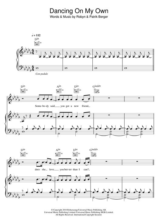 Calum Scott Dancing On My Own Sheet Music Notes Chords