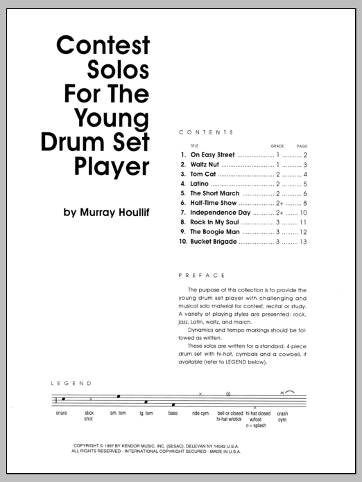 Murray Houllif Contest Solos For The Young Drum Set Player sheet music notes and chords