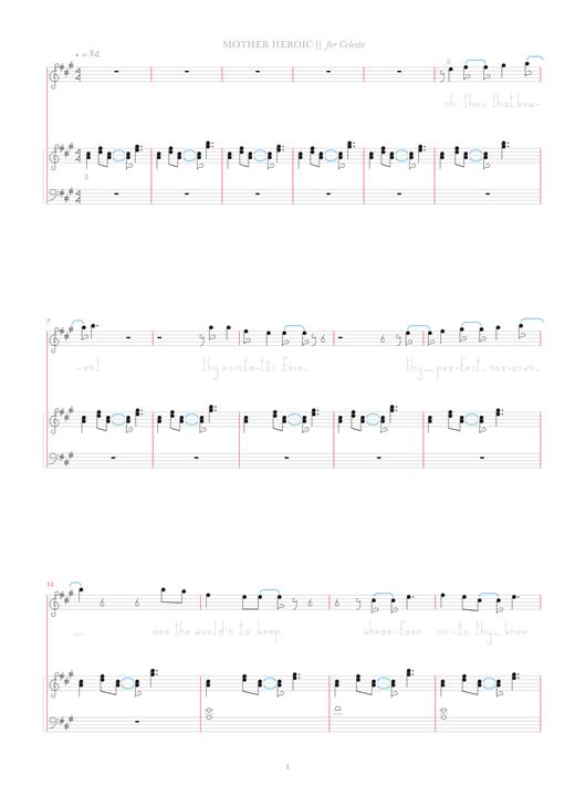 Bjork Mother Heroic Sheet Music Notes Chords Printable Pop