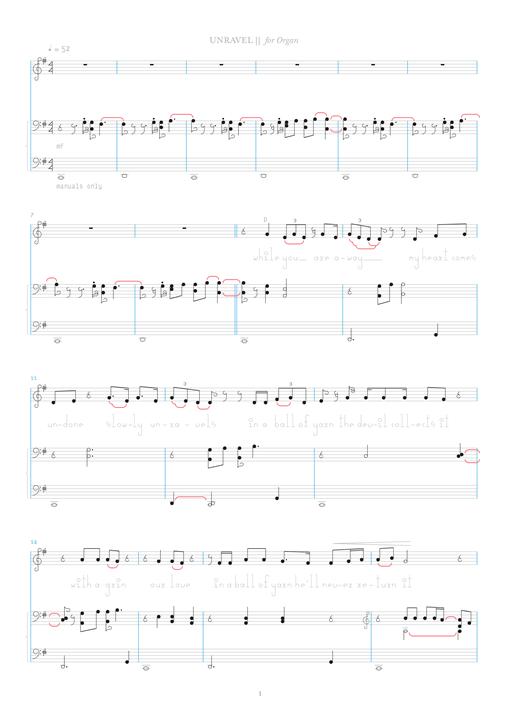 Bjork Unravel Sheet Music Notes Chords Printable Pop Organ