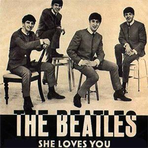 The Beatles, She Loves You, Piano, Vocal & Guitar (Right-Hand Melody)