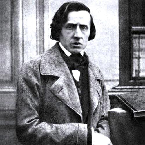 Frederic Chopin, Slow Theme from Fantaisie Impromptu, Melody Line & Chords