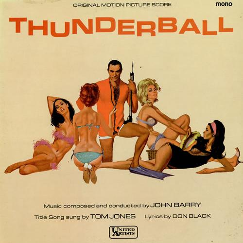 Tom Jones, Thunderball (theme from the James Bond film), Piano, Vocal & Guitar (Right-Hand Melody)