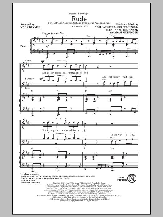 Magic Rude Arr Mark Brymer Sheet Music Notes Chords