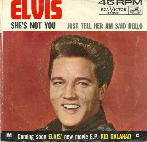 Elvis Presley, She's Not You, Piano, Vocal & Guitar (Right-Hand Melody)