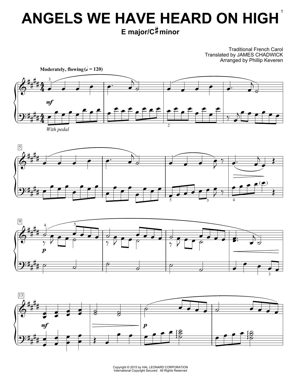 Phillip Keveren Angels We Have Heard On High Sheet Music Notes