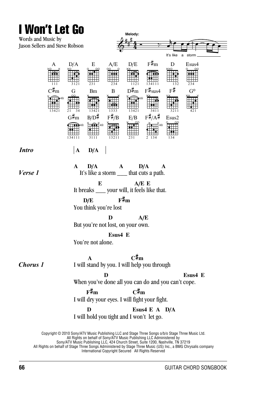 Rascal Flatts I Wont Let Go Sheet Music Notes Chords Printable