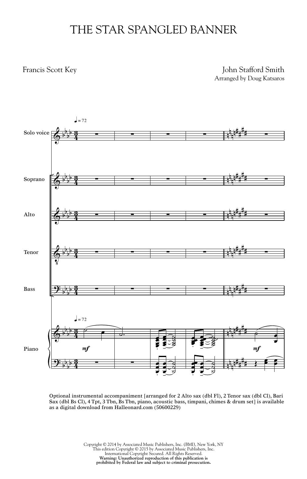 Doug Katsaros The Star Spangled Banner Sheet Music Notes Chords