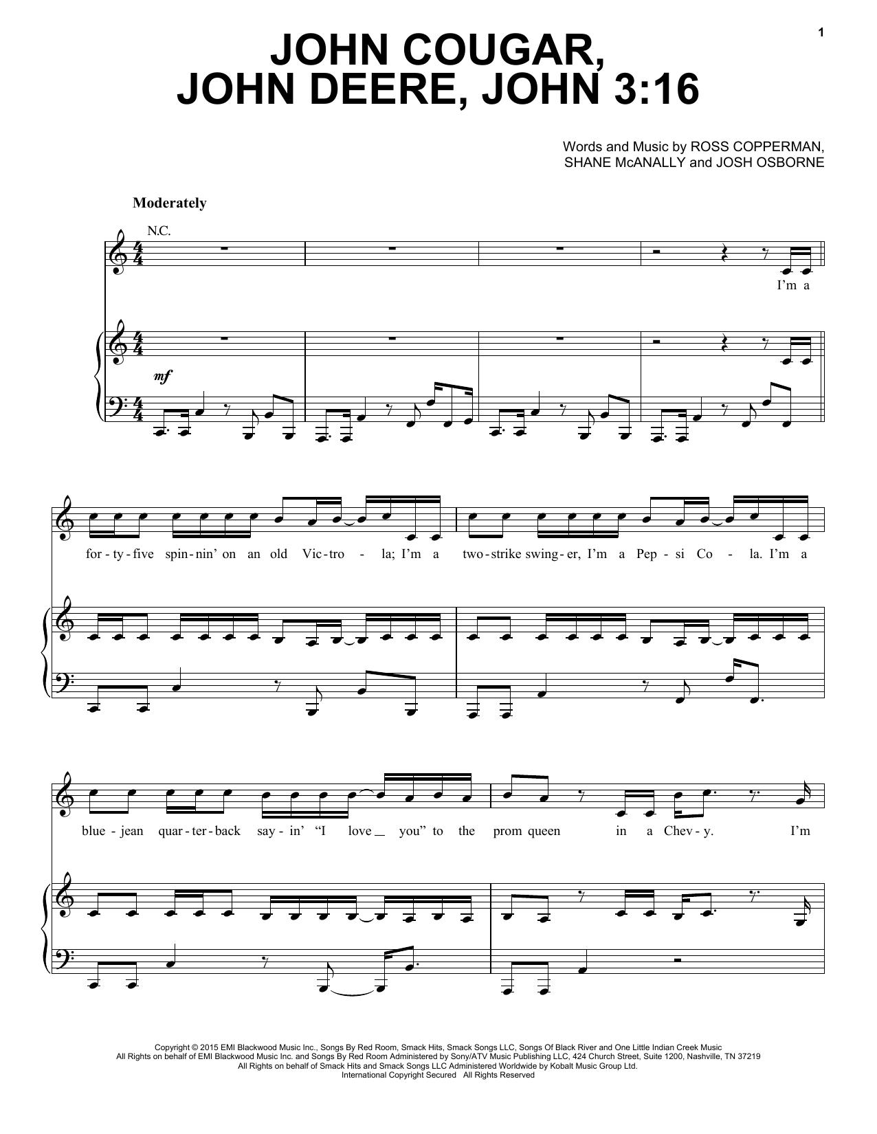 Keith Urban John Cougar John Deere John 316 Sheet Music Notes