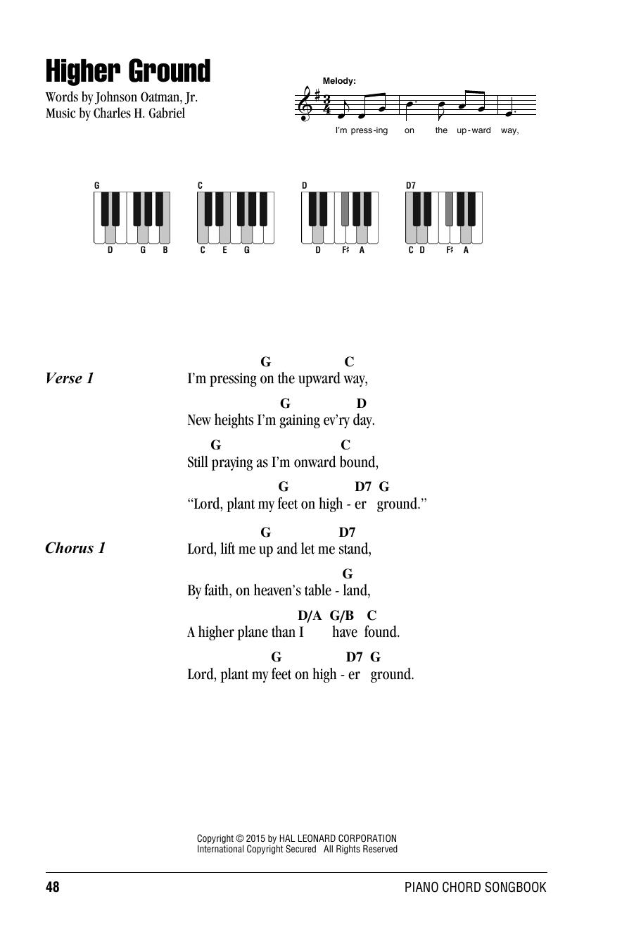 Charles H Gabriel Higher Ground Sheet Music Notes Chords