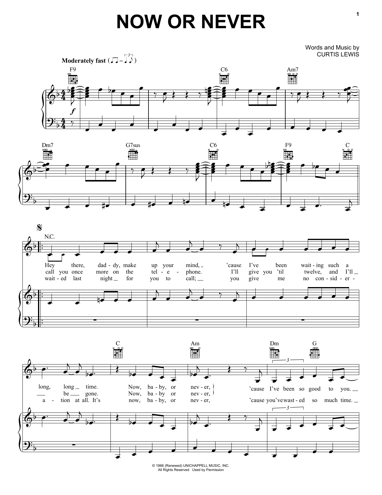 Billie Holiday Now Or Never Sheet Music Notes Chords Printable