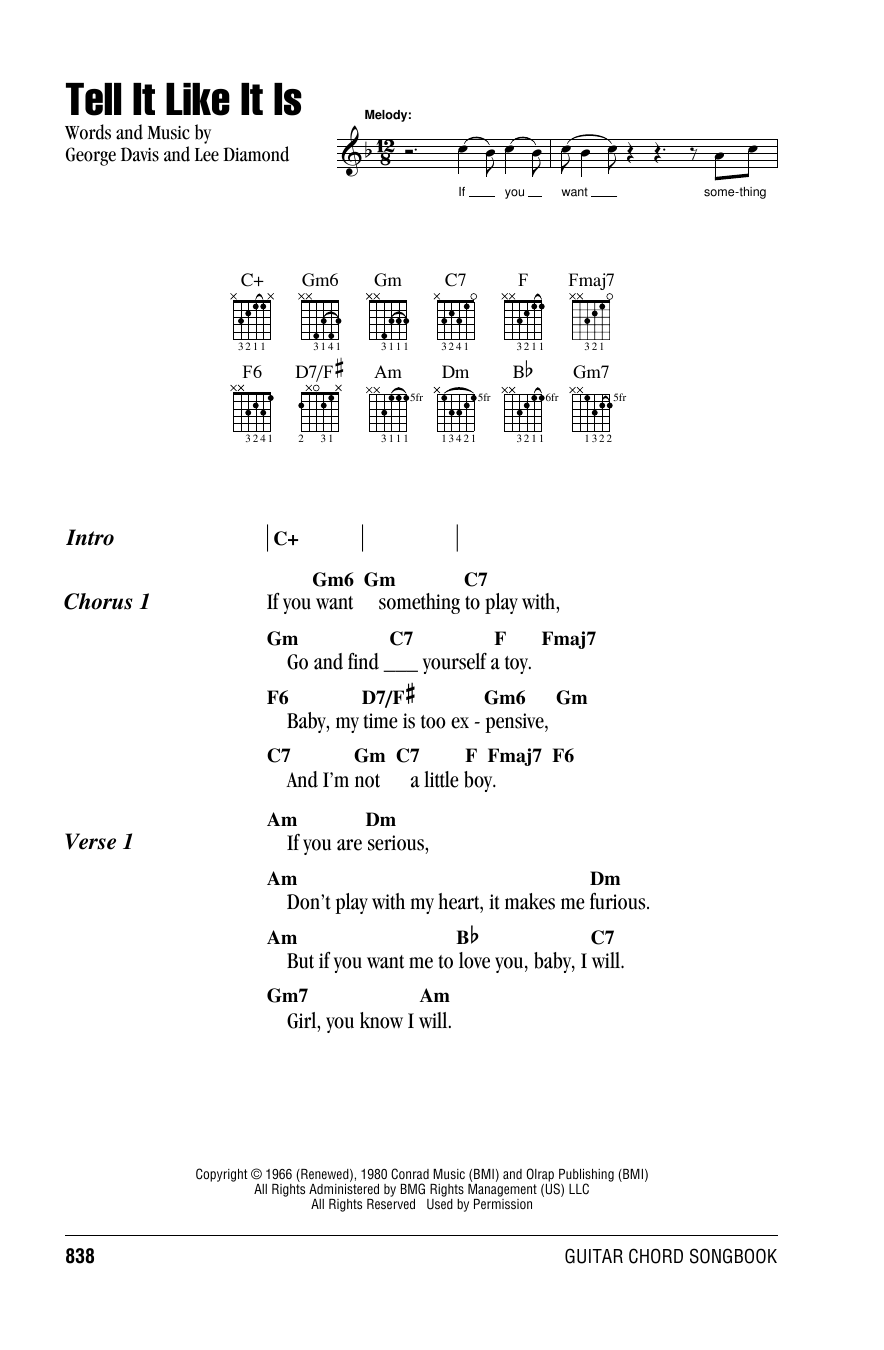 Heart Tell It Like It Is Sheet Music Notes Chords Printable