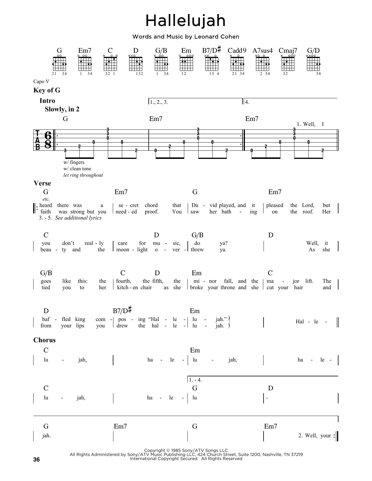 Unique Hallelujah Piano Chords Leonard Cohen Festooning Beginner