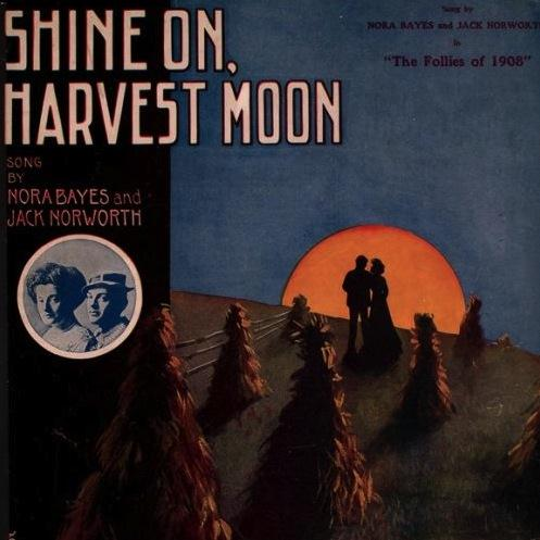 Jack Norworth, Shine On, Harvest Moon, Piano, Vocal & Guitar (Right-Hand Melody)