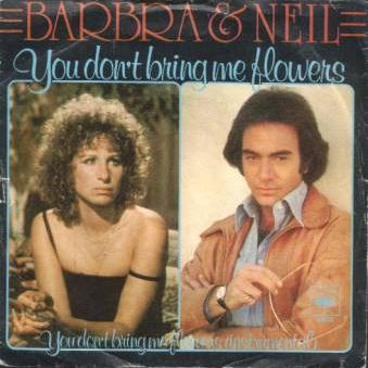Neil Diamond & Barbra Streisand, You Don't Bring Me Flowers, Piano, Vocal & Guitar (Right-Hand Melody)